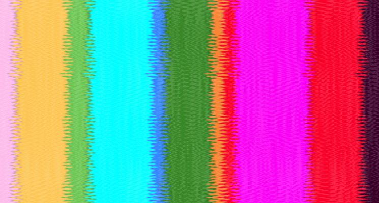 A multicoloured fuzzy tv screen effect for the Audio Network Edinburgh TV Festival