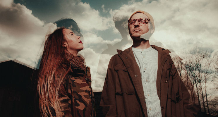 A double exposure shot of indie pop duo Remember Summer