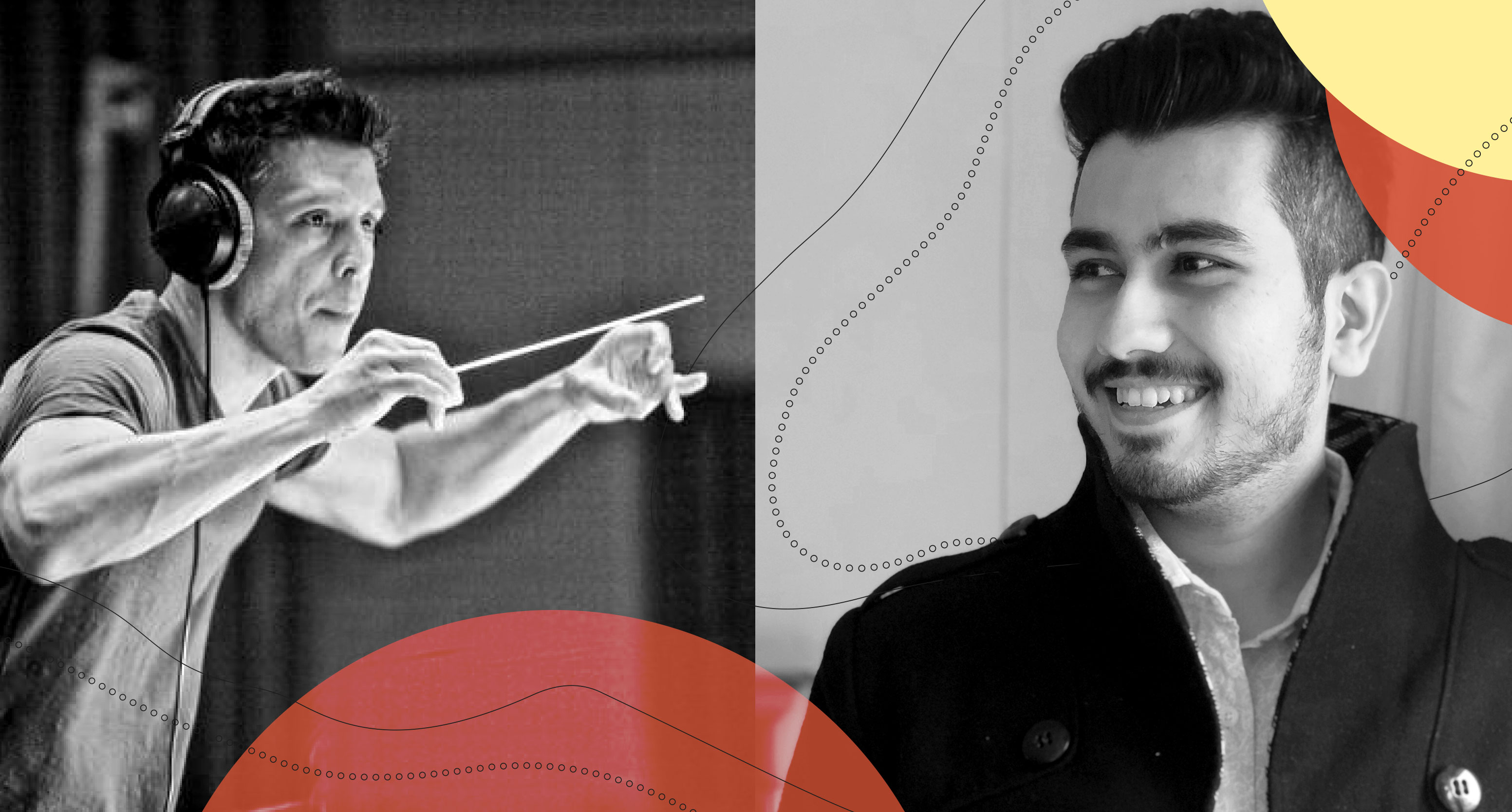 black and white images of juan carlos rodriguez and sidhant kapoor