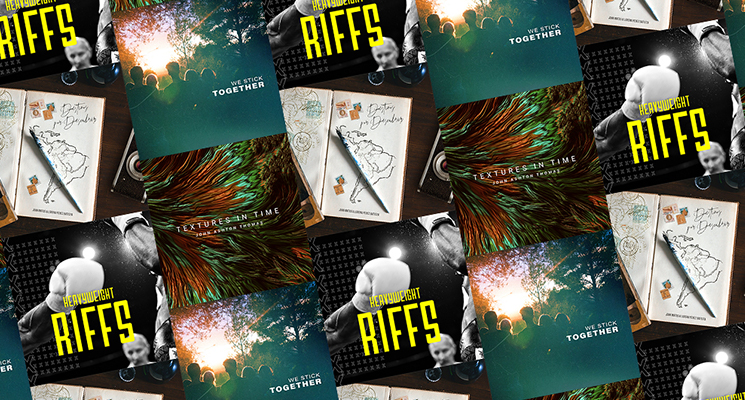 new music album artwork in collage