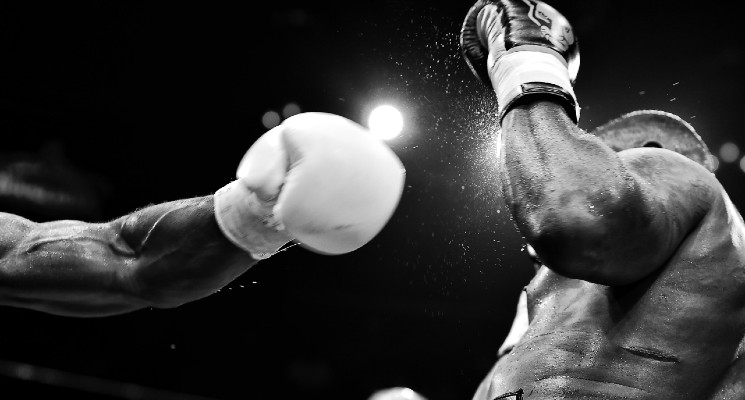 boxing fight in black and white best sports ads 2021 audio network blog header