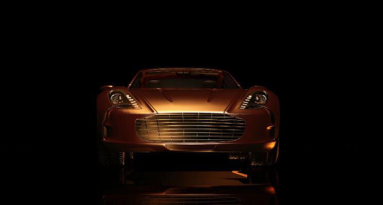 Sports car ad