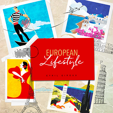 Post card collage of various European countries