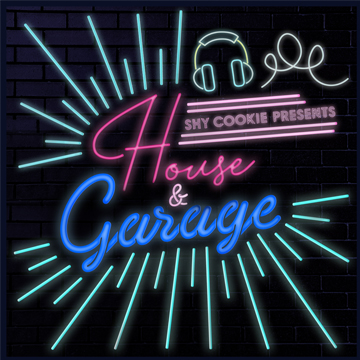 Neon lettering for 'House and Garage'