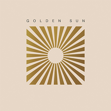 pale pink background golden geometric sun golden sun