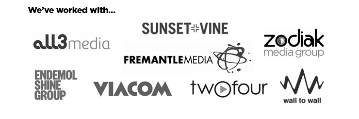Audio Network's client's logos in footer banner