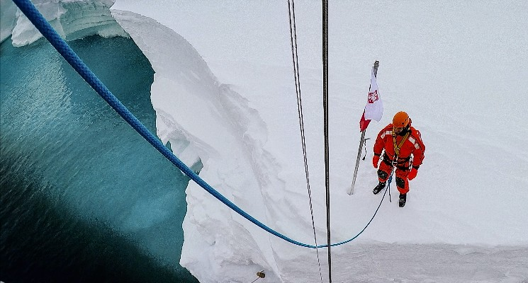 selma documentary man standing in antarctica